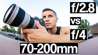 Canon 70-200mm f/4l IS II VS f/2.8l IS II USM  | Which one is the best lens?