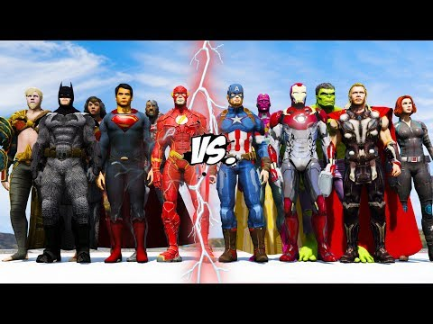 JUSTICE LEAGUE 2017 DC COMIC VS THE AVENGERS MARVEL COMIC - EPIC BATTLE SUPERHEROES COMIC