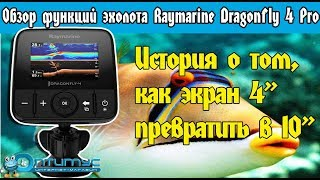 Raymarine dragonfly 4 dv эхолот