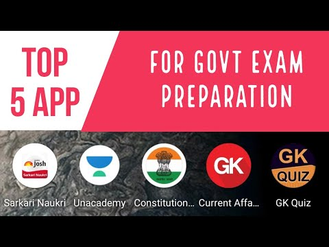 TOP 5 App FOR GOVERNMENT EXAM PREPARATION ... - YouTube