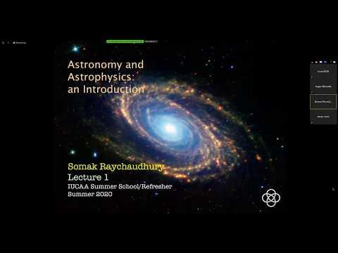 Somak Raychaudhury: Introduction to Astronomy and Astrophysics I