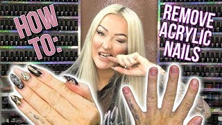 How to: Correctly Remove Acrylic Nails - DO NOT BITE THEM OFF!!!