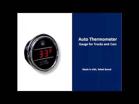 Auto Thermometer Gauge for Trucks and Cars, Teltek Brand, USA