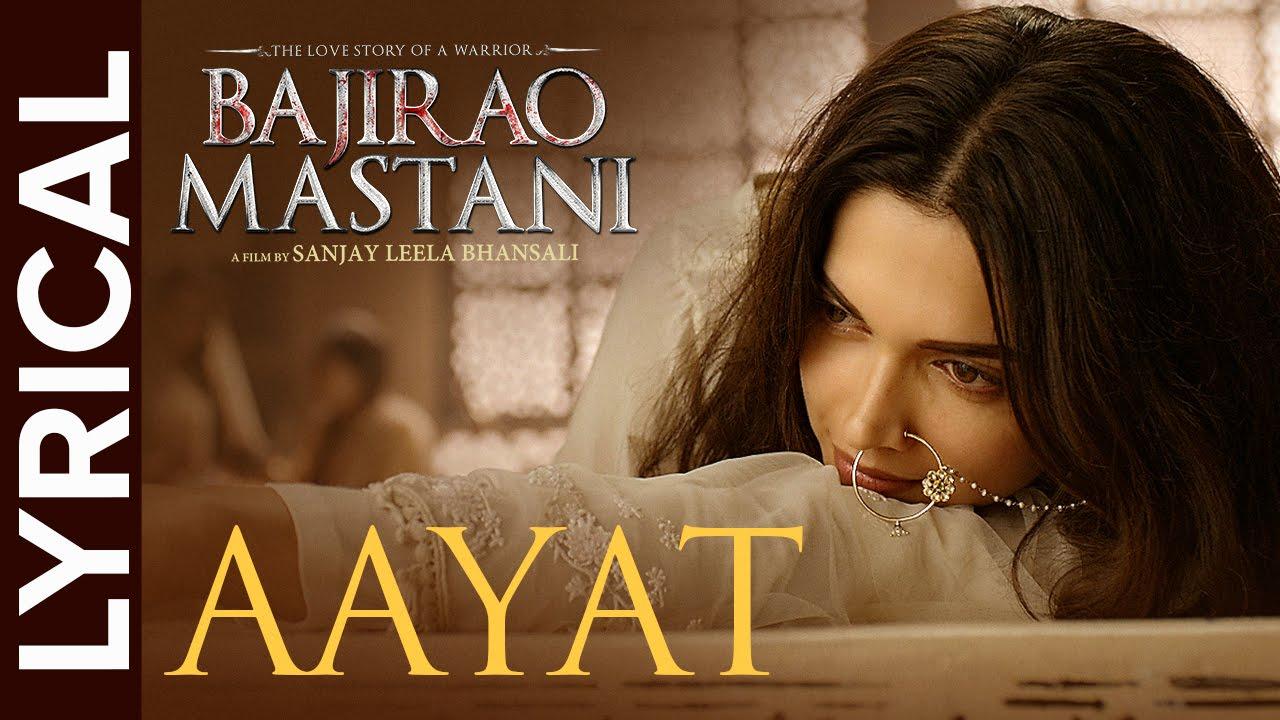 Aayat ki Lyrics in Hindi | Arijit Singh |Bajirao Mastani | LyricsMegeet