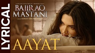 Lyrical: Aayat | Full Song with Lyrics | Bajirao Mastani - YouTube