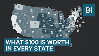 This Map Reveals How Much $100 Is Actually Worth In Your State!