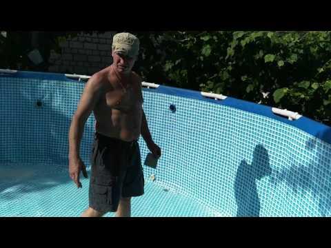 Как заклеить бассейн Intex (часть 1)