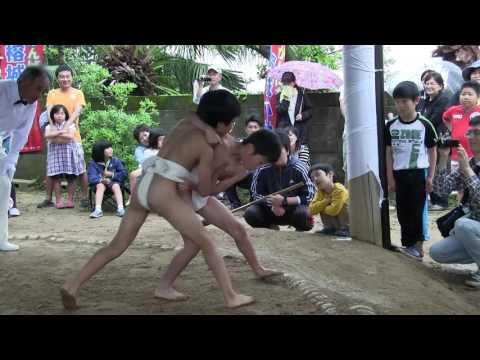 種子島の学校活動:榕城小学校あこう相撲大会1〜6年生取組ダイジェスト
