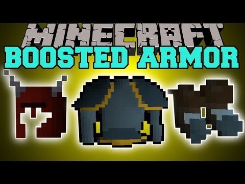 Minecraft: BOOSTED ARMOR (MORE HEALTH, DAMAGE, RANGED DAMAGE!) Mod Showcase