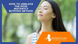 How to unblock the nose instantly  Buteyko Method