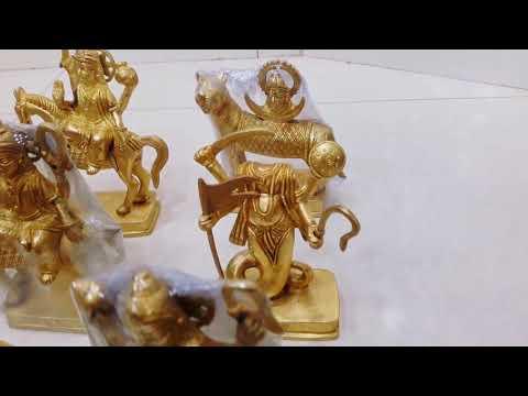 6inches Saptedhatu Navgrah Murti Set