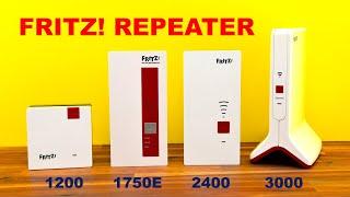 AVM FRITZ!Repeater 1200, 1750E, 2400, 3000 - Test und Vergleich
