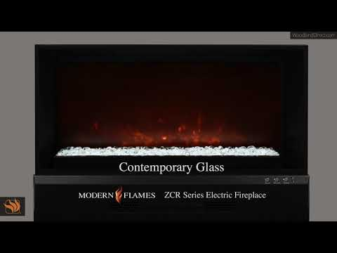 ZCR Series Fireplace with Contemporary Glass