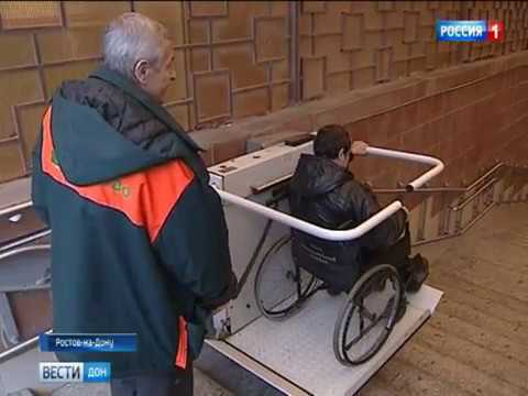 Универсальные лестничные подъемники для инвалидов доставили в Ростов