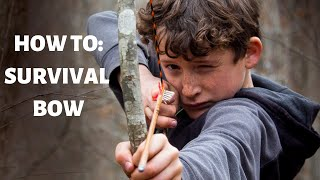 How To Make A Survival Bow For Kids!