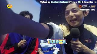 """[VIETSUB] Tần Lam, Vương Quan Dật """"Âm thanh của tuyết rơi"""" Cut HappyCamp 3/11/18"""