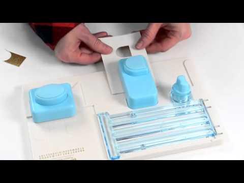 Mini alphabet Punch Board We R Memory Keepers - Troquelador de alfabeto