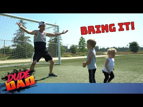 Dad dominates kids in every sport | Dude Dad
