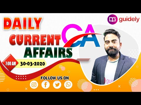 Daily Current Affairs 2020 by Abhijeet Sir (30 Mar 2020) Current Affairs - Guidely