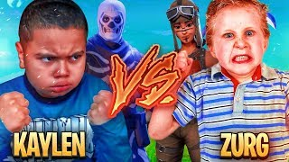 1v1 9 YEAR OLD BROTHER VS TRASH TALKING LITTLE KID (ZURG) FORTNITE PLAYGROUND! HE BROKE CONTROLLER!!