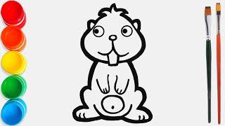 Cara Menggambar dan Mewarnai Berang-Berang Mainan / Video Pendidikan untuk Anak-Anak
