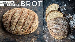 Brot backen ohne Mehl | Low Carb und High PROTEIN | Eiweißbrot selber machen