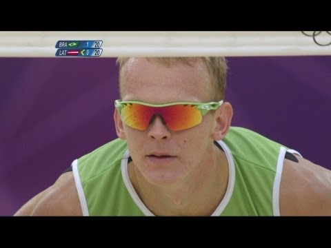 Preview video Beach Volleyball Men´s Semifinals - Brazil v Latvia Full Replay - London 2012 Olympic Games
