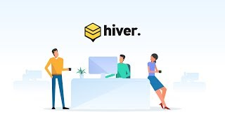 Hiver - 2D animation video for an email collaboration tool