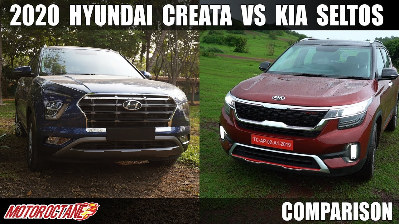 Motoroctane Youtube Video - Kia Seltos vs 2020 Hyundai Creta Features| Hindi | MotorOctane