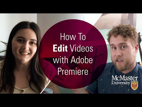 Watch How to edit videos with Adobe Premiere on Youtube.