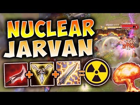 NUCLEAR JARVAN ONE-SHOT BUILD! ABSOLUTELY EXPLOSIVE DAMAGE! | League of Legends