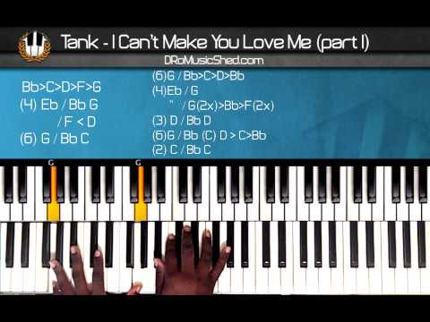 """How to play Tank """"I Cant Make You Love Me"""" (Part1) (Piano Tutorial)"""