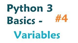Python 3 Programming Tutorial: Variables