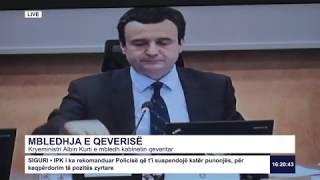 RTK3 Drejtpërdrejt - Mbledhja e qeverisë 19.02.2020