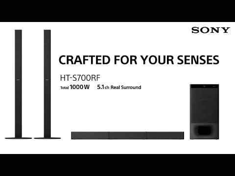 New Sony Soundbar Home Theatre HT-S700RF with 5.1ch Real Surround Sound - 30 sec