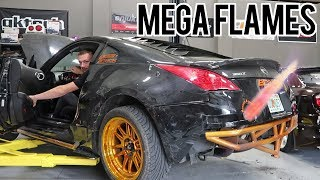 My 350Z is now a FLAMETHROWER