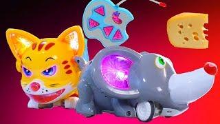 Весёлая игра Кошки-Мышки. Игрушка на радиоуправлении