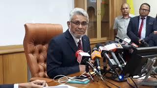 Sidang Media Khas Menteri Wilayah Berhubung Penyelewengan Projek