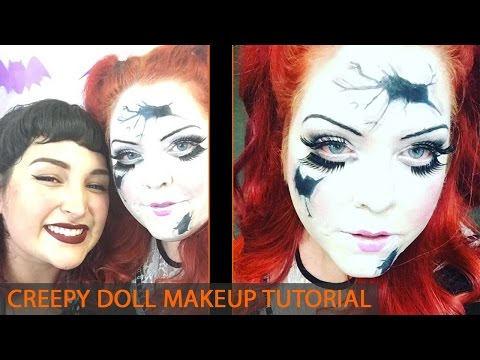 Broken Creepy Doll Halloween Makeup Tutorial