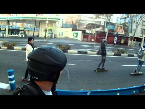 New year longboard cruising - Madrid 2012