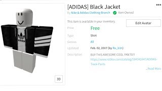 Roblox T Shirt Green Adidas How To Get Free Adidas Clothes On Roblox