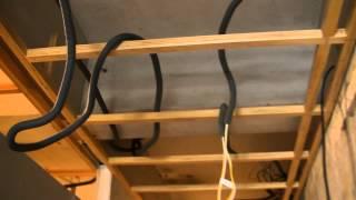 舊屋翻新全紀錄●木作天花板的拉線以及出線完成了