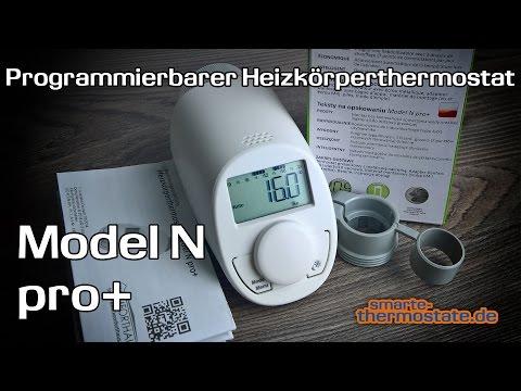 Smart Home Test: Model N pro+, von Komforthaus/eQ-3, programmierbares Heizkörperthermostat