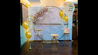 Event Styling With Round Backdrop