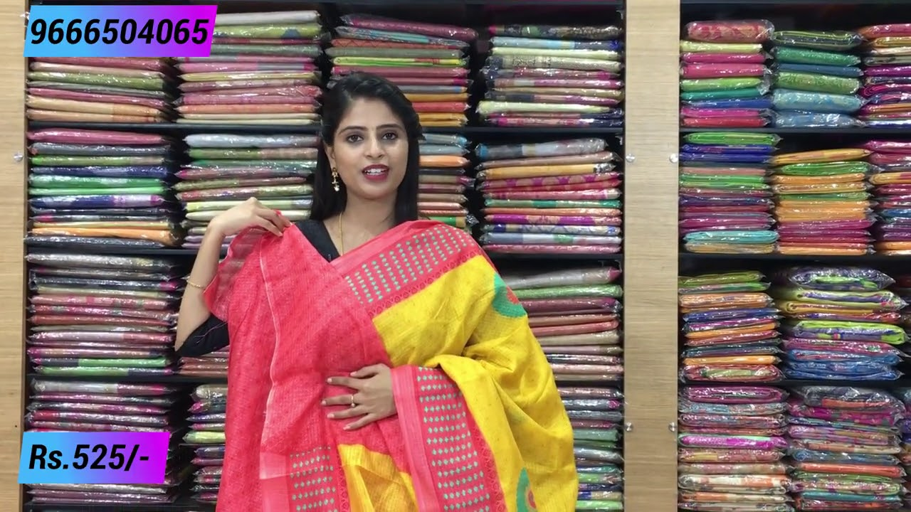"<p style=""color: red"">Video : </p>Chiffon Sarees Collection In Low Price 