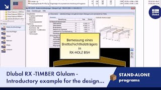 Dlubal RX-TIMBER Glued-Laminated Beam - Designing a Glulam Beam