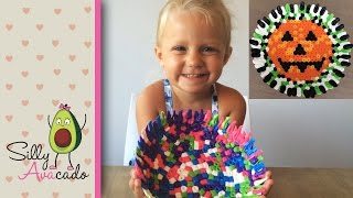 DIY Melted Perler Beads Bowl - Make An Easy Jack-O-Lantern Halloween Candy Bowl W/ Biggie Beads!