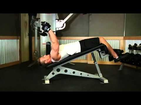 Decline Dumbbell Triceps Extension Exercise Guide and Video