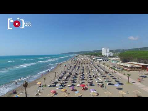A RIDE WITH DRONE IN SPILLE BEACH, ALBANIA 2017 (NO COLOR EDITING)