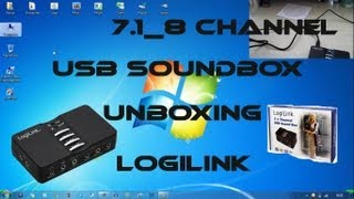 LogiLink 7.1 Kanal USB Sound Box - Unboxing_Review_Installation